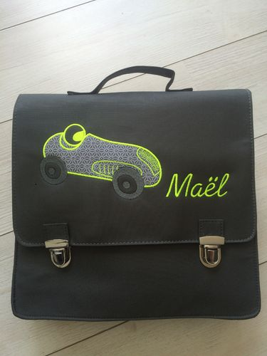 "cartable ""petit bolide"""