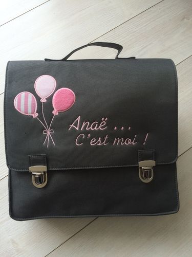 cartable ballons roses
