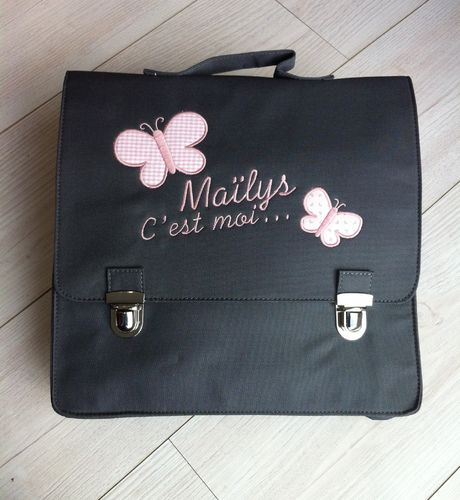"cartable ""papillons"""